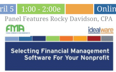 Idealware Nonprofit Panel Features Rocky Davidson CPA